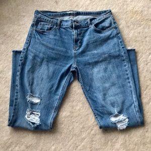Old Navy Distressed Boyfriend Jeans